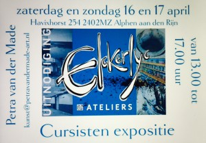 Flyer cursisten expositie april 2016