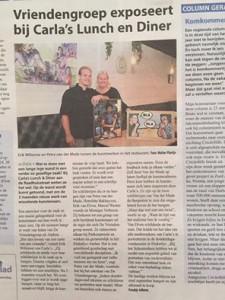 In de krant expositie Carla's